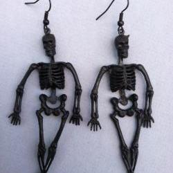 Black Skeleton Earrings